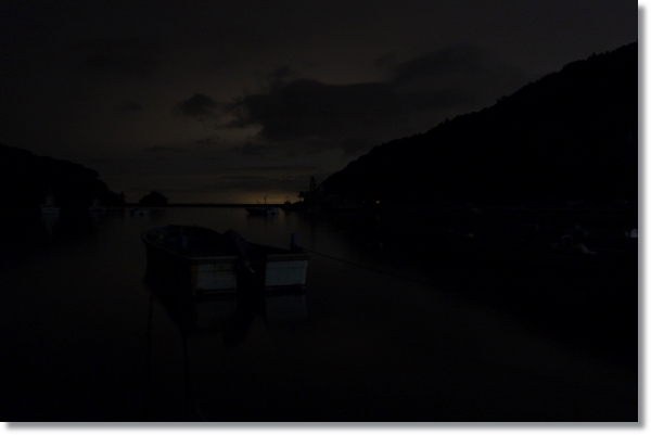 牡鹿半島、夜の竹浜