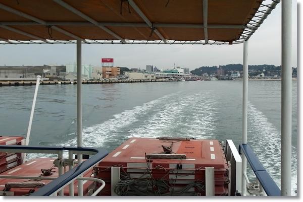 フェリーから見た塩竈港