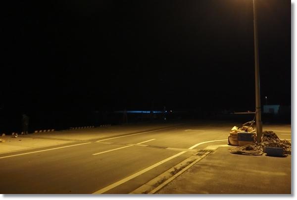 夜の桃浦港