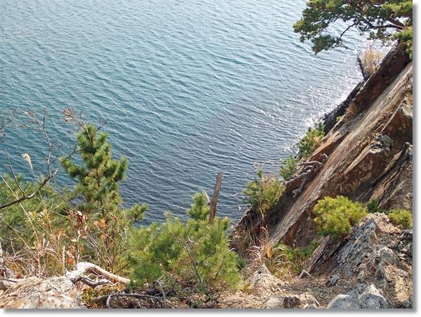 牡鹿半島から見下ろす海の眺め