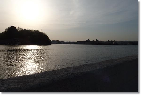 七ヶ浜の漁港から見る景色