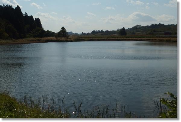 山形大きな溜池