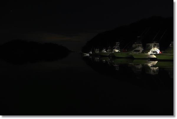 夜の松島越ノ浦漁港