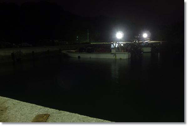 夜の奥松島室浜漁港