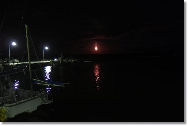 夜の閖上漁港