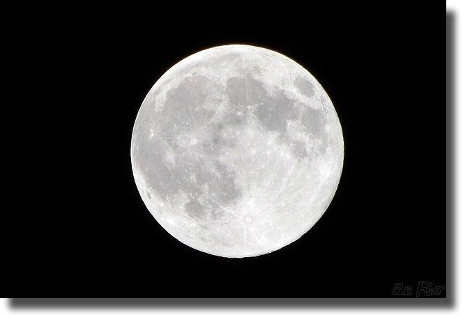 カメラで撮った月