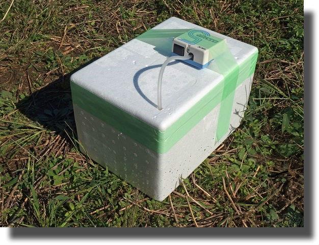 エアーポンプを取り付けた発泡容器
